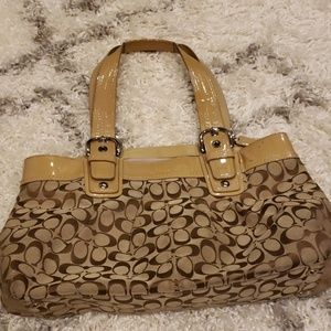 Large Classic tan coach purse
